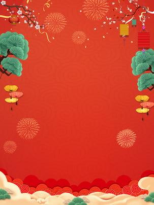축제 빨간 크리스마스 배경 자료 , 빨간색, 분위기, 축제 배경 이미지