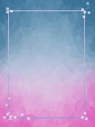 フローティングフラワーグラデーション低ポリボーダーの背景 , 低ポリゴン, グラデーション, 国境 背景画像