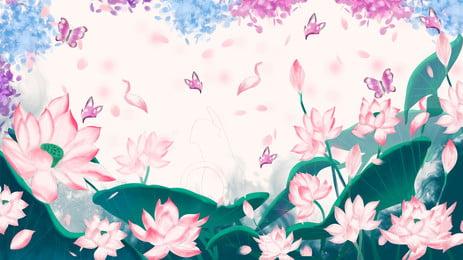 floral plant vintage realistic background design, Romantic, Beautiful, Plant Background image