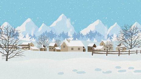 ताजा और सुंदर सर्दियों बर्फ दूर पहाड़ों पेड़ों की पृष्ठभूमि डिजाइन, ताज़ा, सर्दियों की पृष्ठभूमि, सुंदर पृष्ठभूमि पृष्ठभूमि छवि