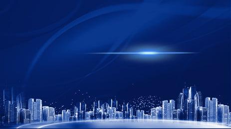 latar belakang pengiklanan hartanah segar dan teknologi, Pintar, Teknologi Tinggi, Cahaya imej latar belakang