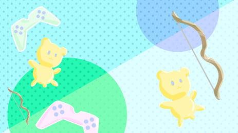 fresh cute doll advertising background, Advertising Background, Game Machine, Doll Background image