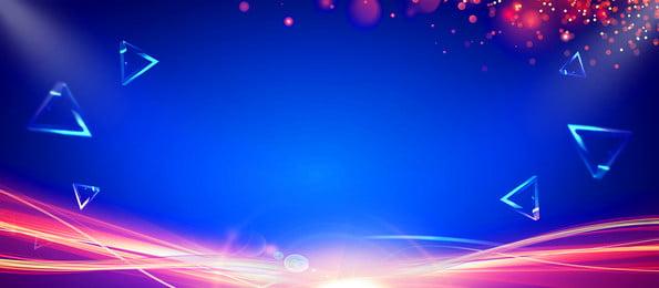 Fresh Geometric Pattern Advertising Background, Advertising Background, Blue Background, Light Spot, Background image