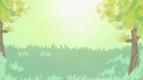 清新草地廣告背景, 廣告背景, 清新, 森林 背景圖片