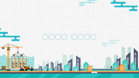 fresh vẽ tay trang web xây dựng nền quảng cáo, Nền Quảng Cáo, Đơn Giản, Tòa Nhà Ảnh nền