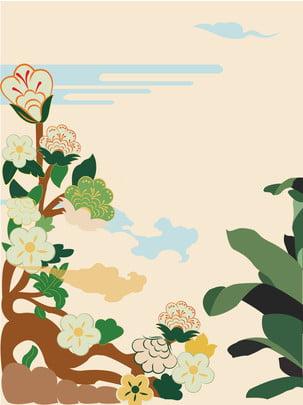 Tươi tay sơn xanh cây hoa nền sáng tạo Cây hoa Nghệ thuật Tươi Đẹp Vẽ Hình Nền