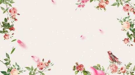 新鮮な植物の花の背景デザイン 植物の花の背景 葉っぱ 小さな花 背景画像