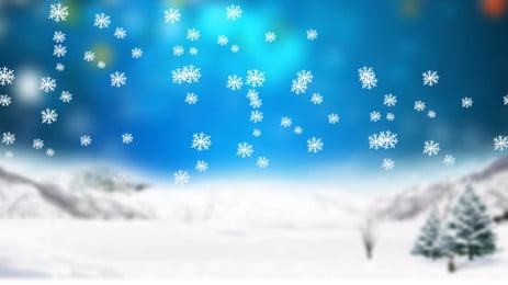 清新雪花廣告背景, 廣告背景, 清新, 雪花 背景圖片