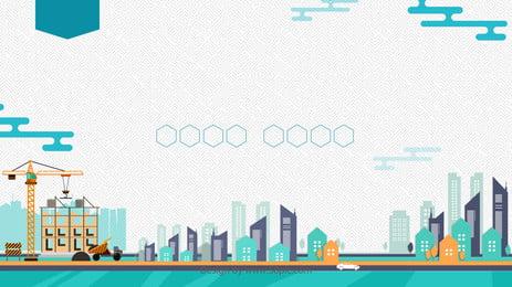 gió tươi vẽ tay quảng cáo xây dựng thành phố nền, Nền Quảng Cáo, Vẽ Tay, Thành Phố Ảnh nền