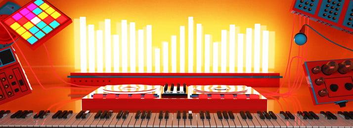 cả 3 chiều không gian sáng tạo âm nhạc và âm thanh sống động nền điện trừu tượng, 3 Chiều, Banner, C4d Ảnh nền