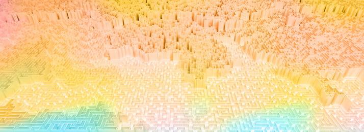 Full 3d space sci fi fundo labirinto espetacular Labirinto 3d C4d Imagem Do Plano De Fundo