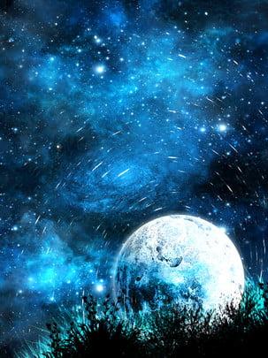 Tất cả những hành tinh bằng tay nền bầu trời đầy sao Original 唯美 Bằng Hình Nền