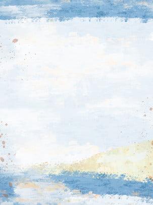 Toàn màu xanh gouache nền tối giản Màu Xanh Bột Hình Nền