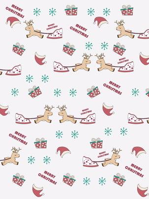 全聖誕麋鹿背景 , 聖誕, 麋鹿, 禮物 背景圖片