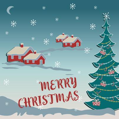 Full christmas house gift snow background Giáng Sinh Cây Hình Nền