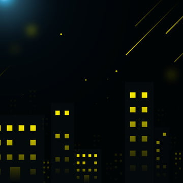 full city night view starlight silhouette background , City, Night View, Silhouette Background image
