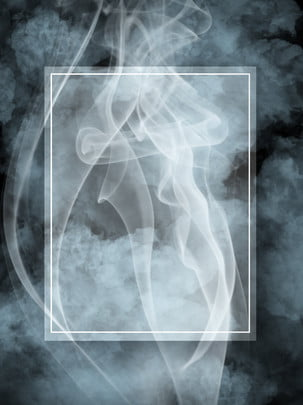 全創意冷色煙霧黑色背景 , 創意, 煙霧, 煙氣 背景圖片