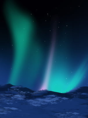 full fantasy night aurora background , Dream, Dark Night, Aurora Background image