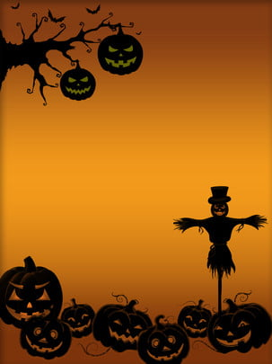 full halloween pumpkin scarecrow bat background , Halloween, Pumpkin, Scarecrow Background image