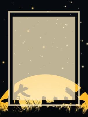 पूर्ण हेलोवीन सिल्हूट चित्रण हॉरर पृष्ठभूमि हैलोवीन पृष्ठभूमि आतंक पृष्ठभूमि छवि