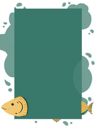 full hand drawn animal background fish , Animal Border Background, Fish, Line Background image