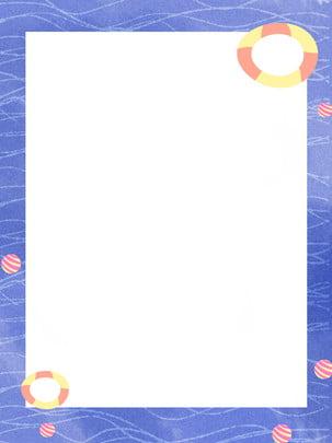 toàn tay vẽ đường viền nền màu nước giật gân đại dương xanh , Biên Giới Nền, Biển, Màu Xanh Ảnh nền