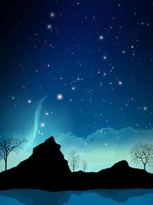 全手繪夜空星空背景 手繪 夜空 星空背景圖庫