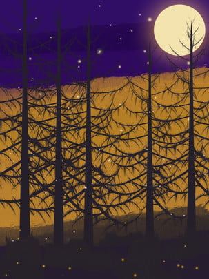 पूर्ण हाथ से तैयार पवन हेलोवीन वन सिल्हूट चित्रण डरावनी पृष्ठभूमि हैलोवीन पृष्ठभूमि वन पृष्ठभूमि छवि