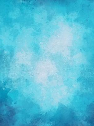 toàn tay vẽ nền màu nước xanh , Màu Xanh, Đại Dương, Vẽ Tay Ảnh nền