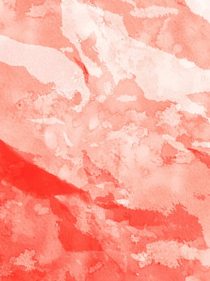 Full hand painted coral red watercolor background , Watercolor, Coral Red, Hand Painted Background image