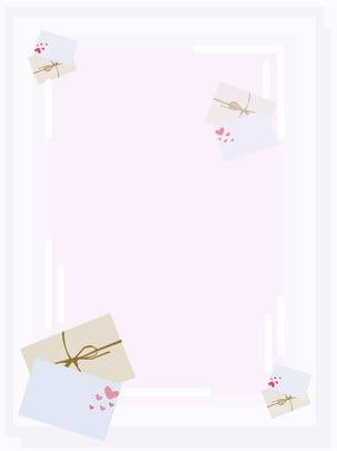 フル手描きの新鮮な封筒紫色の背景 , 紫色, 封筒, 手描き 背景画像