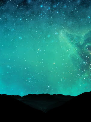 full hand painted starry sky aurora background , Hand Painted, Starry Sky, Night Sky Background image