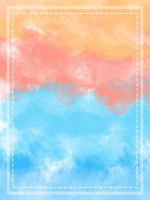 フルインク中国風水彩スプラッシュインクシンプル背景 , 水彩画, 悪魔, 中華風 背景画像
