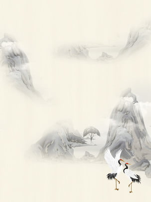 フルインク松ヒノキクレーンの背景 インク クレーン 景観 背景画像