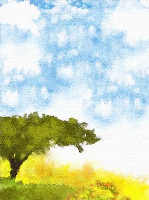 フル風景のオイルペイントの背景 , 油絵, アート, 顔料 背景画像