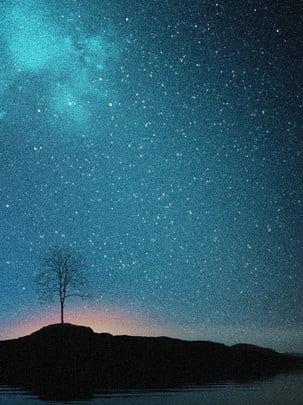 全夜空星空星星背景 , 唯美, 夜空, 星星 背景圖片