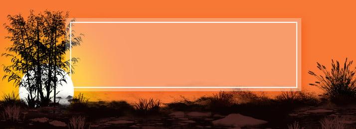 full orange sunset backlight background, Creative, Sunset, Backlight Background image