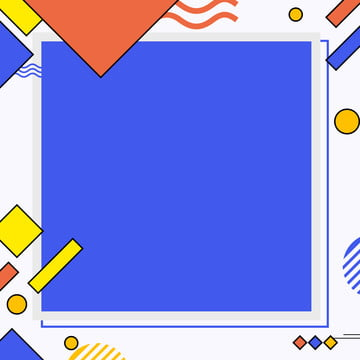 full red yellow and blue cute collage irregular border background , Blue, Wave, Cartoon Background image