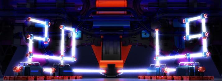 フルスペース宇宙機械技術センス2019創造的な背景, 技術的な意味, カプセル, 3d 背景画像