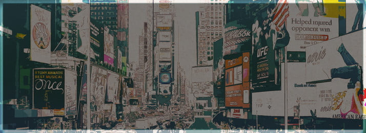 tangan penuh dicat latar belakang new york times square, New York, Times Square, Bangunan imej latar belakang