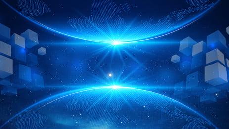 भविष्य इंटरस्टेलर स्मार्ट प्रौद्योगिकी पृष्ठभूमि, कृत्रिम बुद्धि, प्रकाश, विज्ञान और प्रौद्योगिकी पृष्ठभूमि छवि