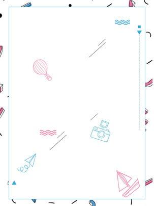 幾何創意旅游海報設計 白色背景 幾何 相機背景圖庫