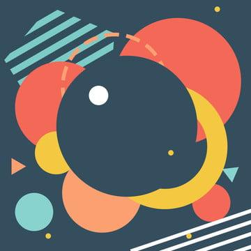 기하학적 인 다각형 다채로운 손으로 그린 그림 배경 , 기하학, 다각형, 색상 배경 이미지