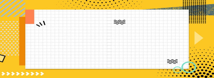 Geometric Simple Banner Background Point,curve,ring,yellow,white,irregular Geometry, Geometric Simple Banner Background, Point, Curve, Background image