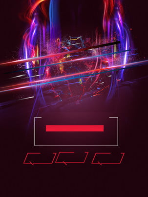 glitter color light advertising background material , Advertising Background, Dark Red Background, Light Background image