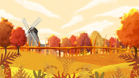 गोल्डन शरद ऋतु अक्टूबर गेहूं फील्ड फार्म पृष्ठभूमि डिजाइन चित्रित, गोल्डन शरद ऋतु अक्टूबर, गेहूं के खेत की पृष्ठभूमि, खेत की पृष्ठभूमि पृष्ठभूमि छवि