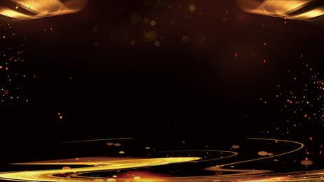 गोल्डन ब्लैक ईयर स्टेज विज्ञापन पृष्ठभूमि सामग्री, सोना काला, वार्षिक बैठक, अखाड़ा पृष्ठभूमि छवि
