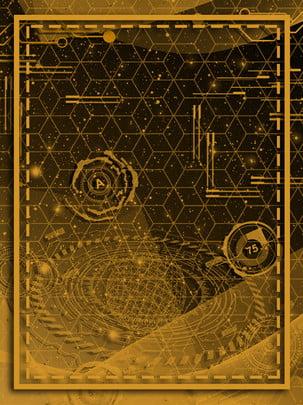 金色科技廣告背景 , 廣告背景, 文藝, 時尚 背景圖片