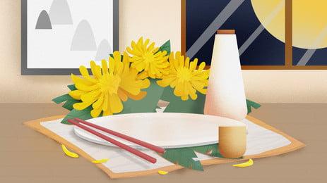 Feinschmeckerischer autumn creative advertising tray background Werbung Für Lebensmittel Hintergrundbild