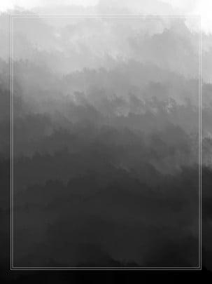 Đổ dốc màu gốc trung quốc nền đen màu nước thuỷ mặc gió rất đơn giản , Trung Quốc Phong, Nền Bằng Tay, Thuỷ Mặc Ảnh nền